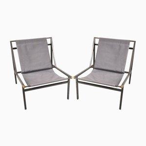 Stühle mit Metallgestell, 1950er, 2er Set