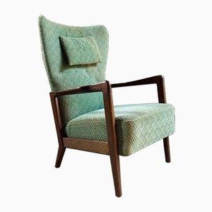 High Wing Back Lounge Chair by Soren Hansen for Fritz Hansen, 1950s