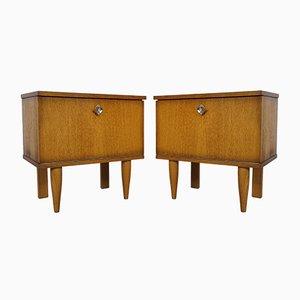 Tables de Chevet en Chêne, 1950s, Set de 2