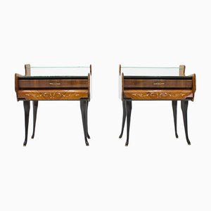 Italian Nightstands with Horse Legs, 1959, Set of 2