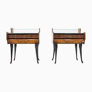 Tables de Chevet avec Pieds de Cheval, Italie, 1959, Set de 2