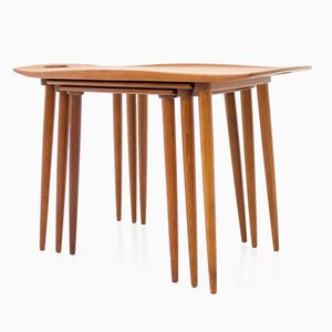 Tavolini ad incastro in teak di Jens Quistgaard, Danimarca, anni '60