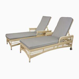 Vintage Liegestühle, 2er Set