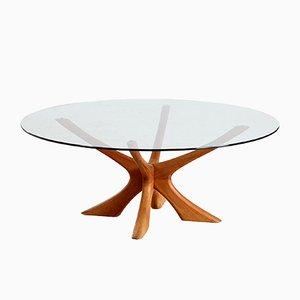 Mesa de centro JAX de teca de Illum Wikkelso para Niels Eilersen, años 60