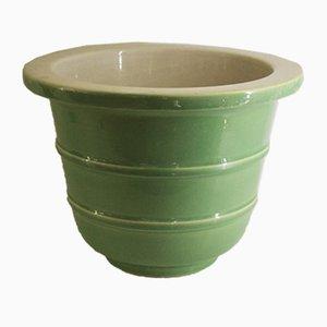 Grüne Keramik Vase von Giovanni Gariboldi für Richard Ginori, 1940er