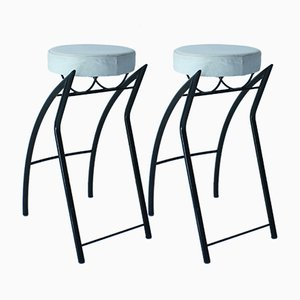 Stools by Jean-Louis Godivier for Tebong, 1980s, Set of 2