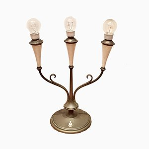 3-Leuchten Tischlampe, 1940er