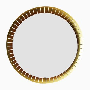 Round Illuminated Wall Mirror from Stilnovo, 1960s