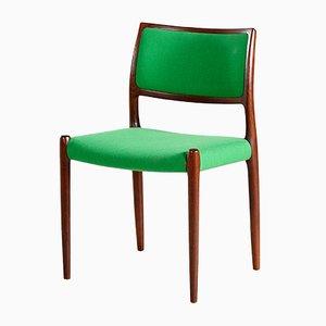 Modell 80 Chair aus Palisander von Niels Otto Møller für J.L.Mollers, 1960er