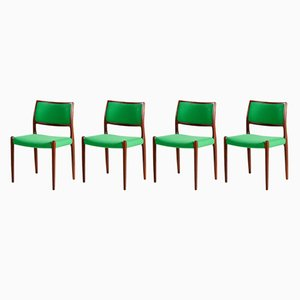 Model 80 Rosewood Chair by Niels Otto Møller for J.L.Mollers, 1960s, Set of 4