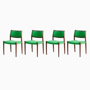 Modell 80 Stühle aus Palisander von Niels Otto Møller für J.L.Mollers, 1960er, 4er Set