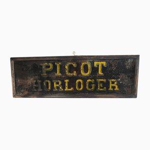 Cartel de relojero Picot, años 40