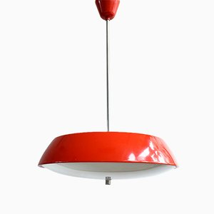 Model 1117 Red Hanging Lamp by Josef Hurka for Napako, 1960s