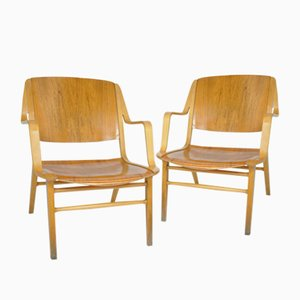 Vintage Ax Chairs by Peter Hvidt & Orla Mølgaard Nielsen for Fritz Hansen, 1960s, Set of 2