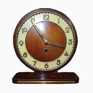 Art Deco Kaminsims Uhr, 1950er
