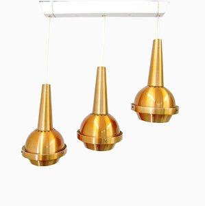 Lampe à Suspension avec Triple Cascade de VEB Metalldrücker, 1960s