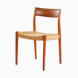 Modell 77 Chair aus Teakholz von Niels Otto Møller für J.L. Møllers, 1960er