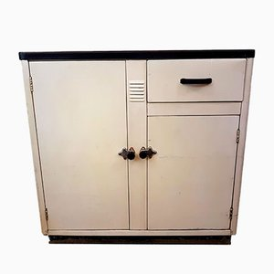 Vintage Metal Enameled Cupboard from Mitre