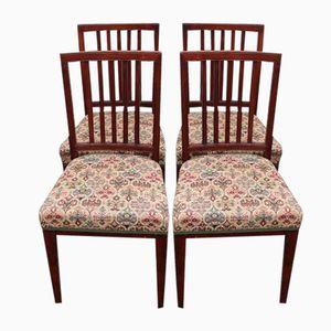 Mahogany Dining Chairs, 1930s, Set of 4