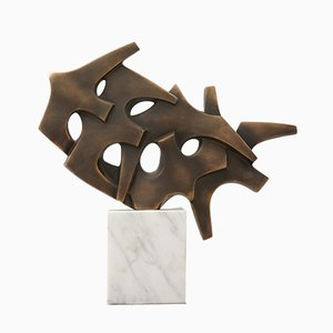 Sculpture Abstraite Flock of Birds en Bronze par Pierre Schumann