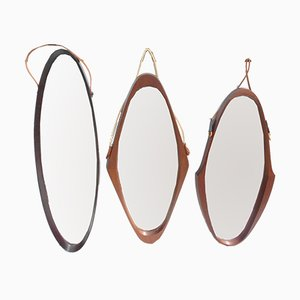 Swedish Oval Mirrors, 1950s, Set of 3
