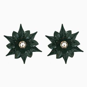 Italian Floral Wall Sconces, 1970s, Set of 2