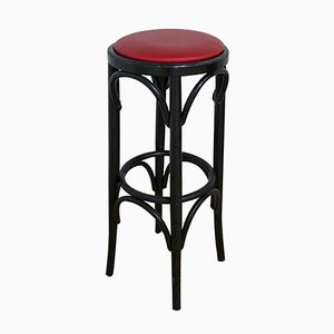 Vintage French Red Bar Stool