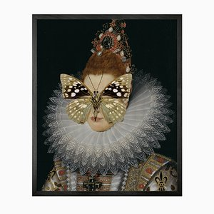 Portrait of Spotted Butterfly on Lady Large von Mineheart
