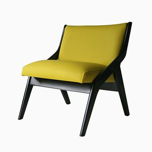 Yellow Vinyl Chair by Neil Morris for Morris of Glasgow, 1950s