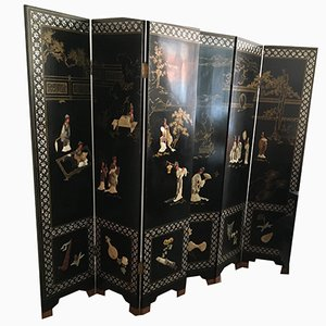 Antique Chinese Semi-Precious Stones and Jade Room Divider