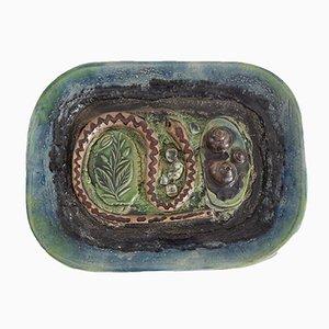 Piatto vintage in ceramica smaltata di Zdenek Sigmund, 1972