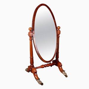 Specchio Cheval antico Guglielmo IV in mogano, inizio XIX secolo