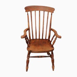 Sedia in pino con schienale a stecche, anni '30
