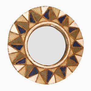 Round Ceramic Mirror by Les Argonautes, 1950s