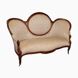 Sofá grande de caoba, años 20