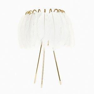 Feather Tischlampe in Weiß von Young & Battaglia für Mineheart, 2018