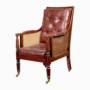 Antique George-IV Style Mahogany Armchair