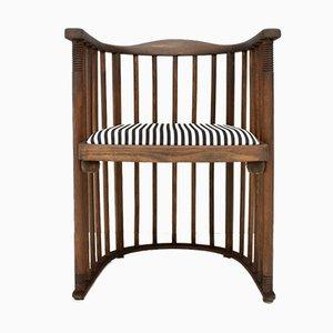 Barrel Chair von Josef Hoffmann für Jacob & Josef Kohn, 1880er