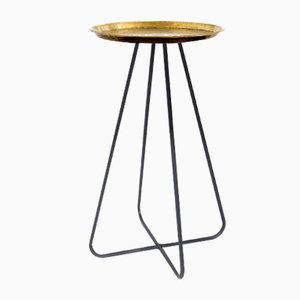 Tall New Casablanca Table in Brass by Young & Battaglia for Mineheart, 2018