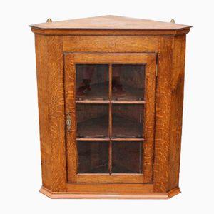 Oak Corner Cupboard with 2 Shaped Shelves, 1920s