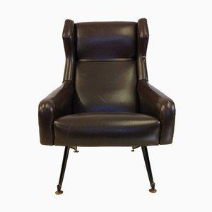 Italienischer Sessel mit Metallfüßen von Nello Pini, 1960er