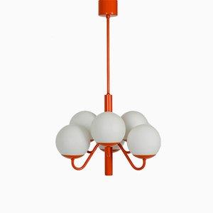 Orange Opalglas Deckenlampe von Kaiser Leuchten, 1960er