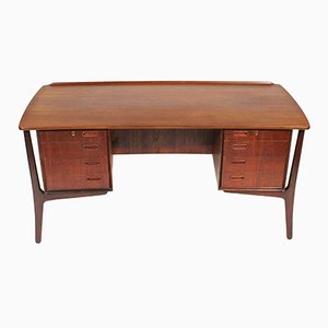 Danish Teak Desk by Svend Åge Madsen for H.P. Hansen, 1950s