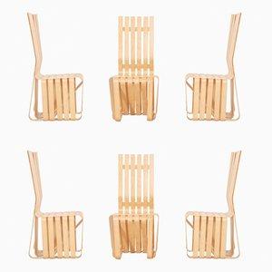 Sedie in acero di Frank Gehry per Knoll, 1993, set di 6