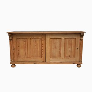Antique Wilhelminian Sideboard with Sliding Doors