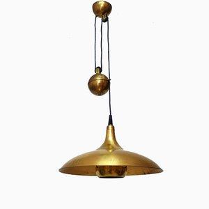 Mid-Century Brass Pendant Lamp, 1960s