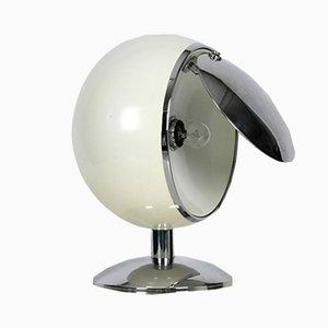 Lámpara de mesa o de pie italiana Mid-Century grande de metal con reflector regulable