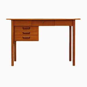 Vintage Danish Teak Desk by G. N. Tibergaard