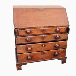 Large Antique Mahogany Secretaire, 1850s