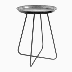 Medium New Casablanca Table in Silver by Young & Battaglia for Mineheart, 2018